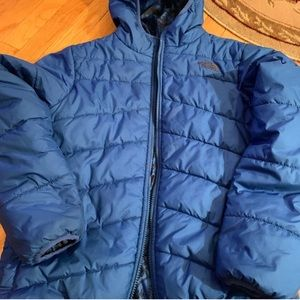 Boys blue north face down jacket